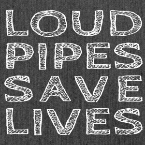 Loud Pipes Save Lives - Schoudertas van gerecycled materiaal