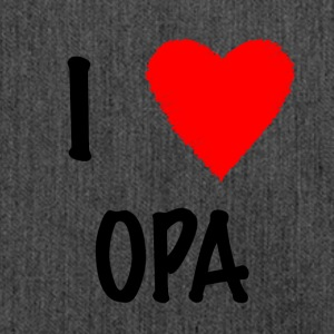 I Love OPA - Shoulder Bag made from recycled material