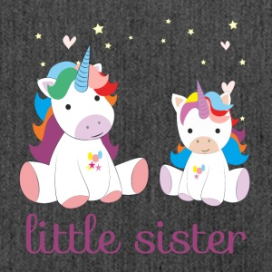unicorn little sister - Schultertasche aus Recycling-Material