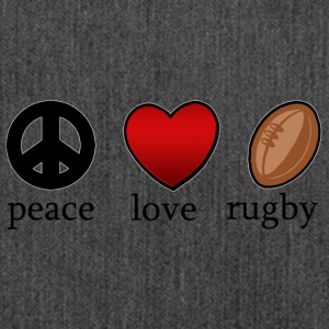 Peace Love Rugby - Schultertasche aus Recycling-Material