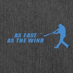 Baseball: As Fast As The Wind - Schultertasche aus Recycling-Material