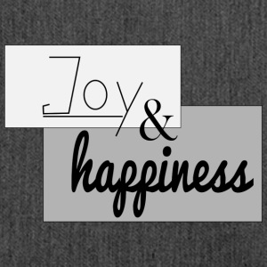 JOY and hapiness - Shoulder Bag made from recycled material