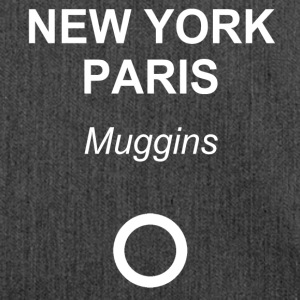 New York, Paris, Muggins! - Schultertasche aus Recycling-Material