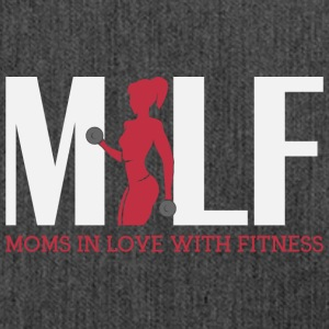 Moms in love with fitness - Schultertasche aus Recycling-Material