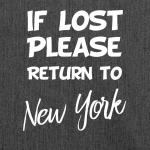 If lost - New York - Shoulder Bag made from recycled material