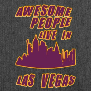 Las vegas Awesome people live in - Shoulder Bag made from recycled material