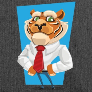tiger in suit - Shoulder Bag made from recycled material