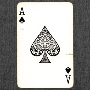 Games Card Ace Of Spades - Schoudertas van gerecycled materiaal