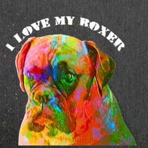 I love my boxer - Schultertasche aus Recycling-Material
