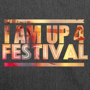 I am up for festival - Schultertasche aus Recycling-Material