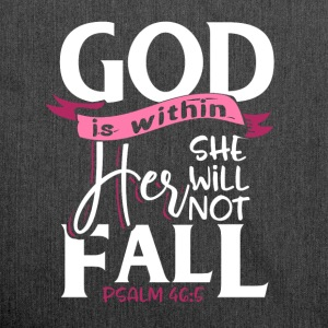 God is within her she will not fail - Psalm 46:5 - Schultertasche aus Recycling-Material