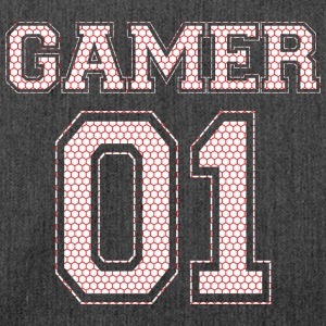 GAMER 01 - Red Edition - Schultertasche aus Recycling-Material