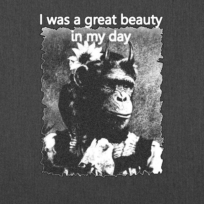 Funny Chimpanzee Old Age Joke Design