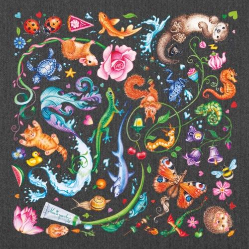 Animals by Maria Tiqwah - Schoudertas van gerecycled materiaal