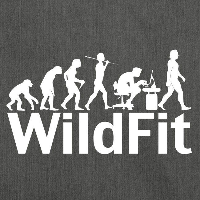 WildFit Logo Evolution Weiß