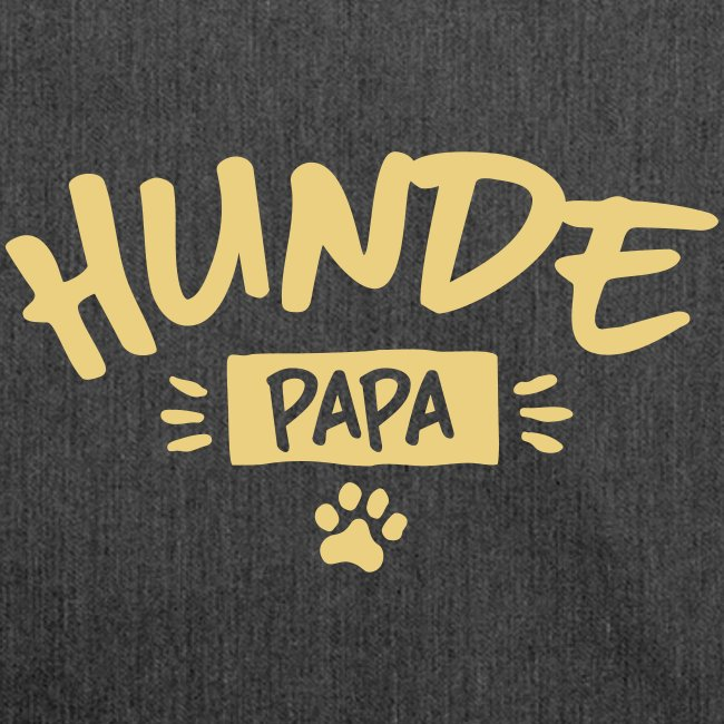 Hunde Papa - Schultertasche aus Recycling-Material