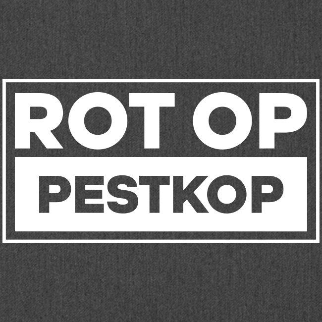 Rot Op Pestkop - Block White