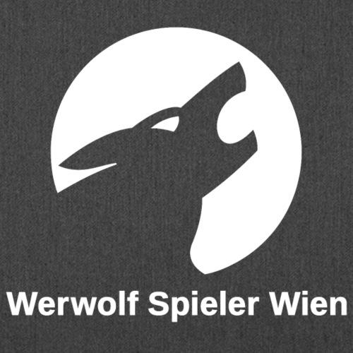 Werwolf Logo weiß + Schriftzug - Schultertasche aus Recycling-Material