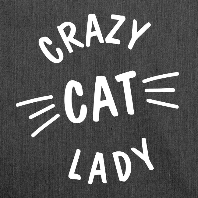 Crazy Cat Lady meow - Schultertasche aus Recycling-Material