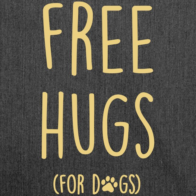 Vorschau: free hugs for dogs - Schultertasche aus Recycling-Material
