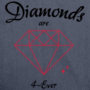 Diamonds are 4-Ever - Schultertasche aus Recycling-Material