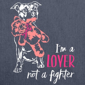 LOVER NOT A FIGHTER - Staffordshire - Shoulder Bag made from recycled material
