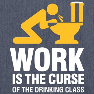 Work Is The Curse Of The Drinking Class - Shoulder Bag made from recycled material