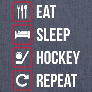 Eat Sleep Hockey Repeat - Shoulder Bag made from recycled material