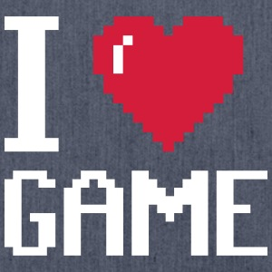 I Love GAME - Schultertasche aus Recycling-Material