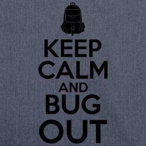 Keep Calm and Bug Out - Skulderveske av resirkulert materiale
