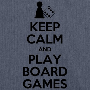 Keep Calm - Board Games - Shoulder Bag made from recycled material