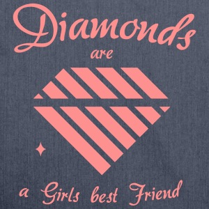 Diamonds are a Girls best Friend - Schultertasche aus Recycling-Material