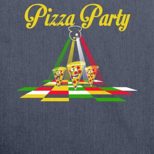 Pizza Party - Schultertasche aus Recycling-Material