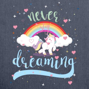 NEVER STOP DREAMING - UNICORN - Shoulder Bag made from recycled material