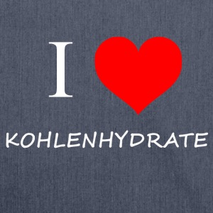I Love Kohlenhydrate - Schultertasche aus Recycling-Material