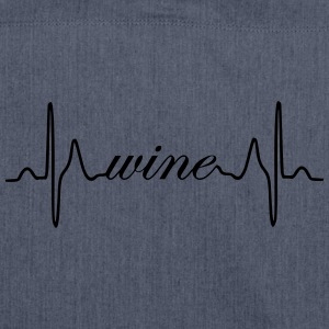Wine heartbeat ECG - Shoulder Bag made from recycled material