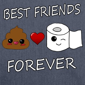 Poo and Paper Best Friends Kawaii - Axelväska av återvinningsmaterial