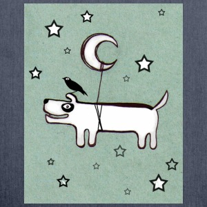 Dog ,Bird & Moon - Schultertasche aus Recycling-Material