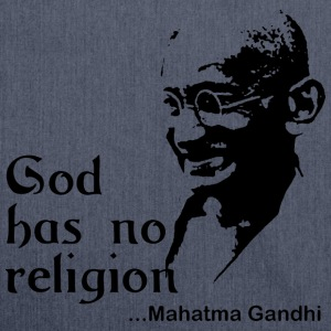 Gandhi God Has No Religion - Shoulder Bag made from recycled material