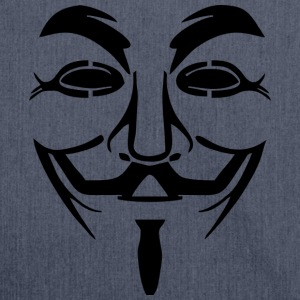 Vendetta Maske - Guy Fawkes (Anonymous) - Schultertasche aus Recycling-Material