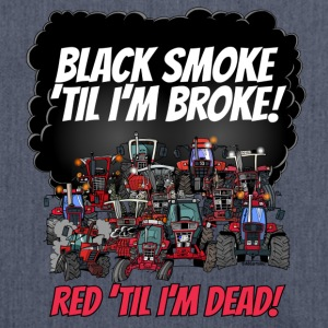 2016_black_smoke_red_IH_tshirt - Schoudertas van gerecycled materiaal