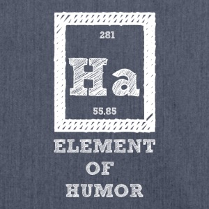 Periodensystem: Ha - Element of Humor - Schultertasche aus Recycling-Material