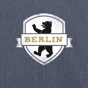 Berlin bear capital travel souvenir wall coat of arms - Shoulder Bag made from recycled material