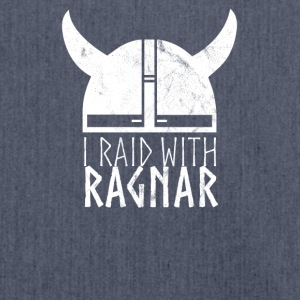 Vikings I Raid With Ragnar - Schultertasche aus Recycling-Material