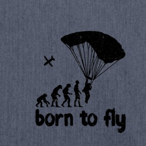 Evolution Skydiving - born to fly - Schultertasche aus Recycling-Material