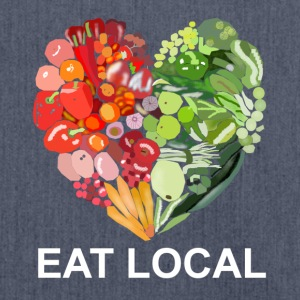Eat local - Shoulder Bag made from recycled material