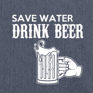 Save Water, Drink Beer - Skuldertaske af recycling-material