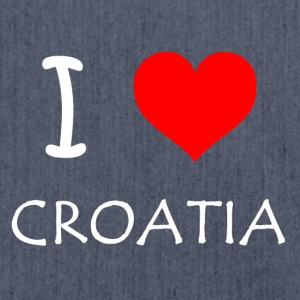 I Love Croatia - Shoulder Bag made from recycled material