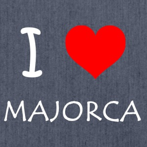 I Love Majorca - Schultertasche aus Recycling-Material