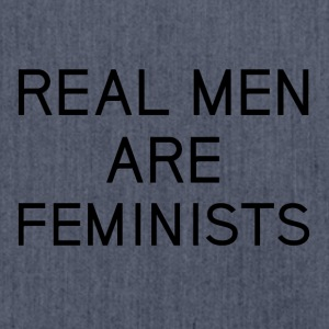 real_men_are_feminists - Shoulder Bag made from recycled material